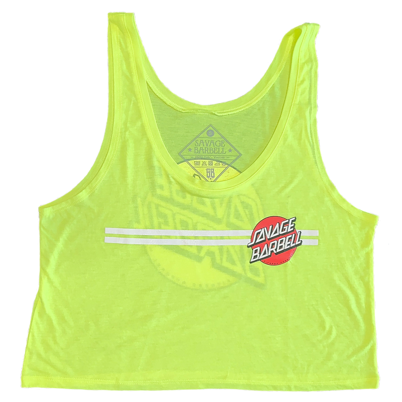CROP TOP - RETRO SAVAGE - GLOW STICK SAVAGE BARBELL
